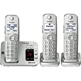 Panasonic PANASONIC Link2Cell Bluetooth Cordless Phone with Answering Machine KX-TGE463S - 3 Handsets (Silver) (Pack of 18)