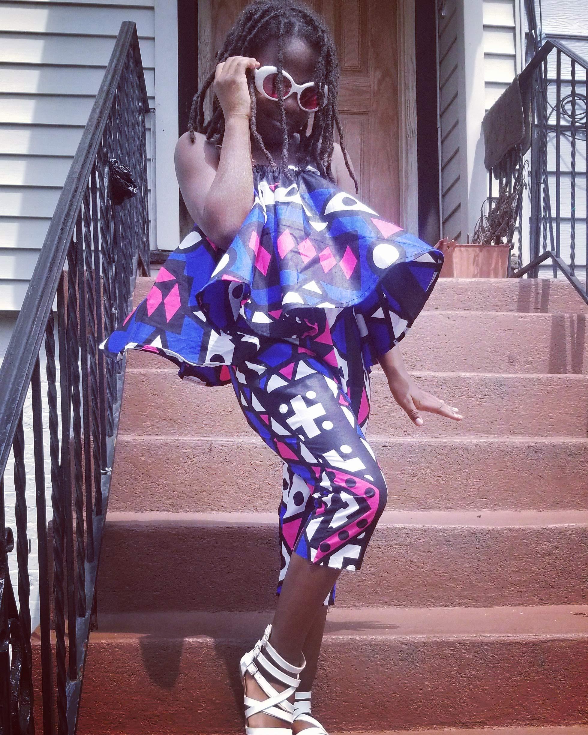 ankara set/african clothing/toddler clothing/girls clothing/