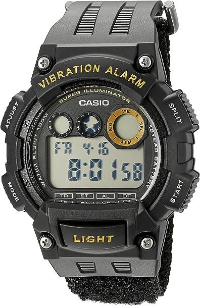 Casio W735HB-1AV - Reloj de Pulsera Hombre, Nailon, Color Negro