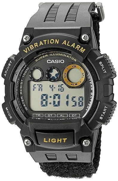 Casio Mens Super Illuminator Quartz Black Casual Watch (Model: W735HB-1AV)