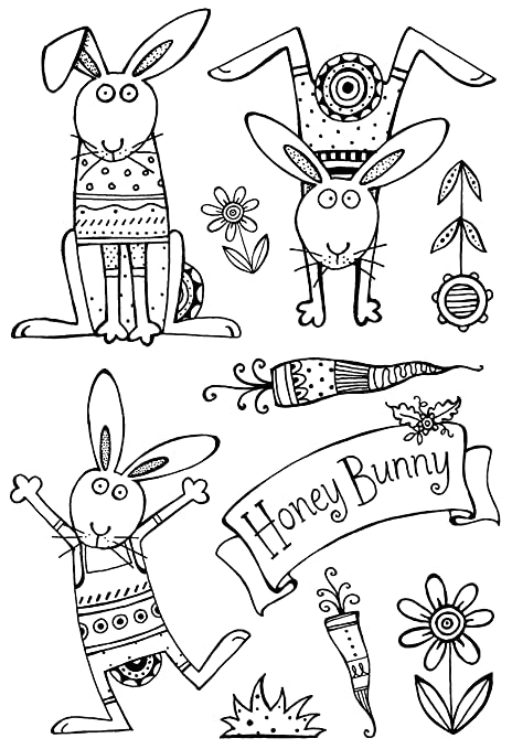 Sweet Dixie Honey bunny Clear Stamp Set, A6: Amazon.co.uk: Kitchen ...