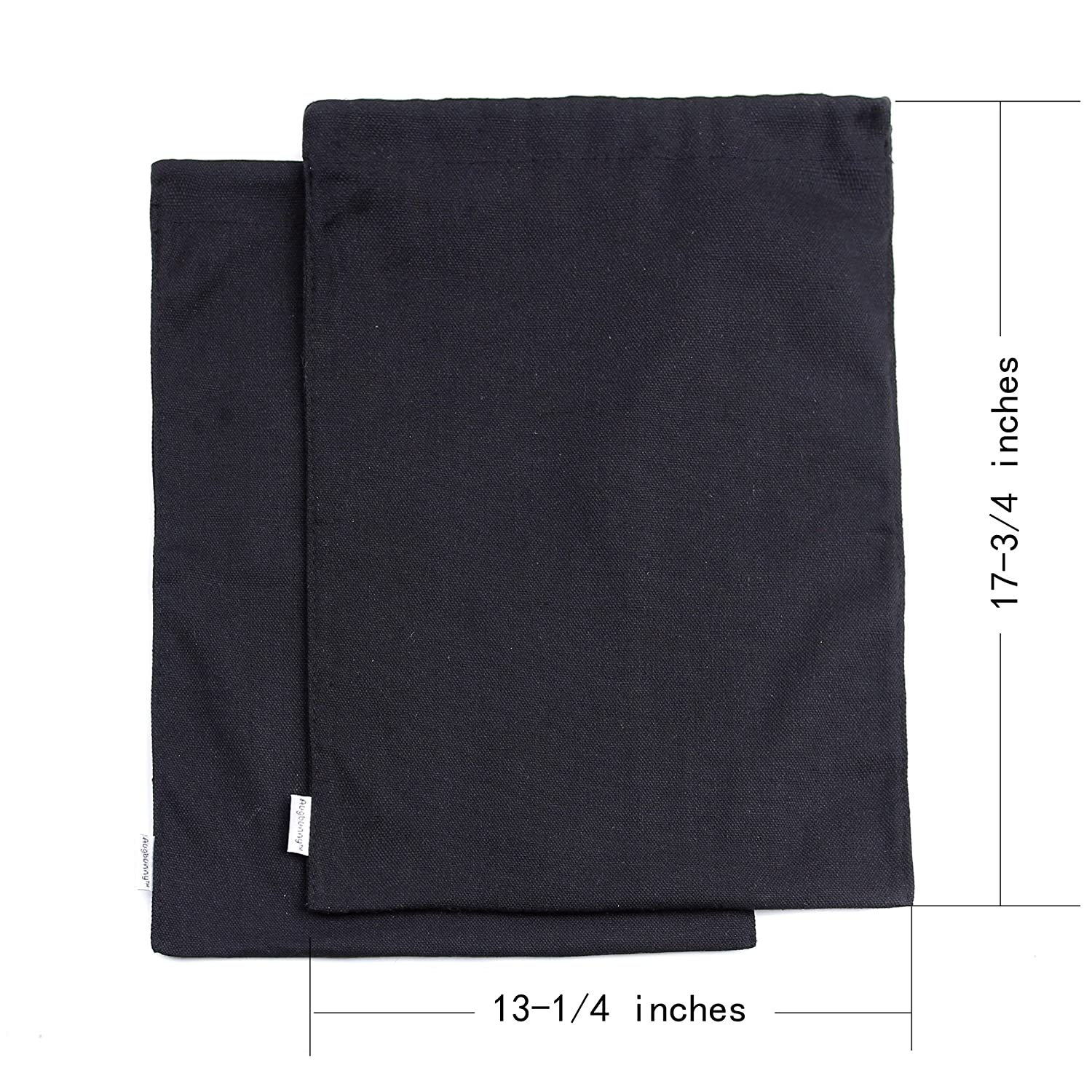 Augbunny Canvas 17-3//4 by 13-1//4-inch Travel Shoe Bag 2-pack Linluk B-12B
