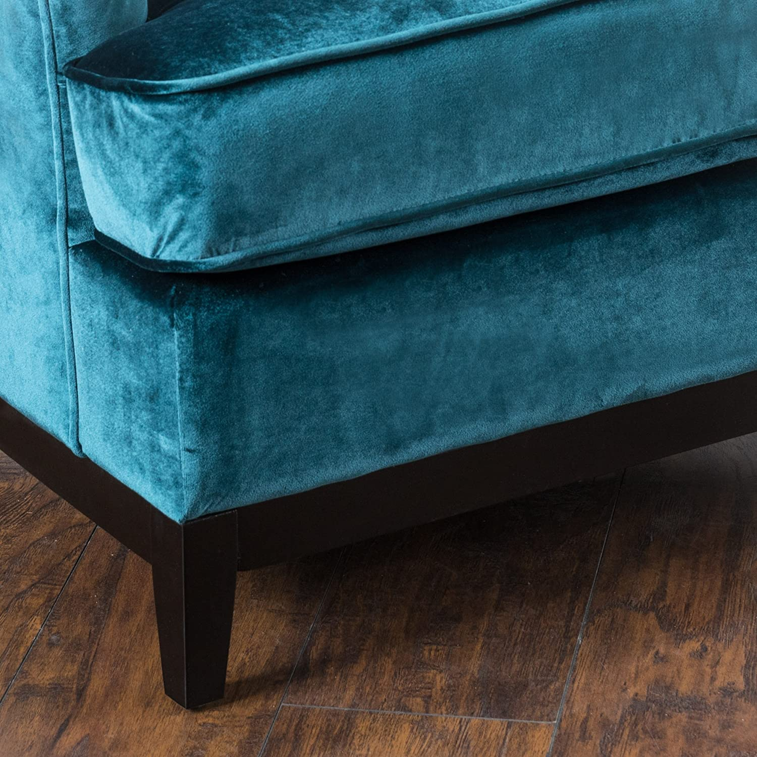Amazon: Anabella Teal Blue Fabric Tufted Sofa Chair: Kitchen & Dining