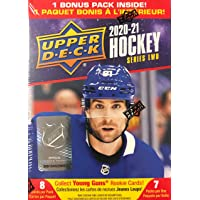 $29 » 2020/21 Upper Deck Series 2 Hockey Blaster Box - 6 Packs Plus 1 Bonus Pack - 8 Cards…