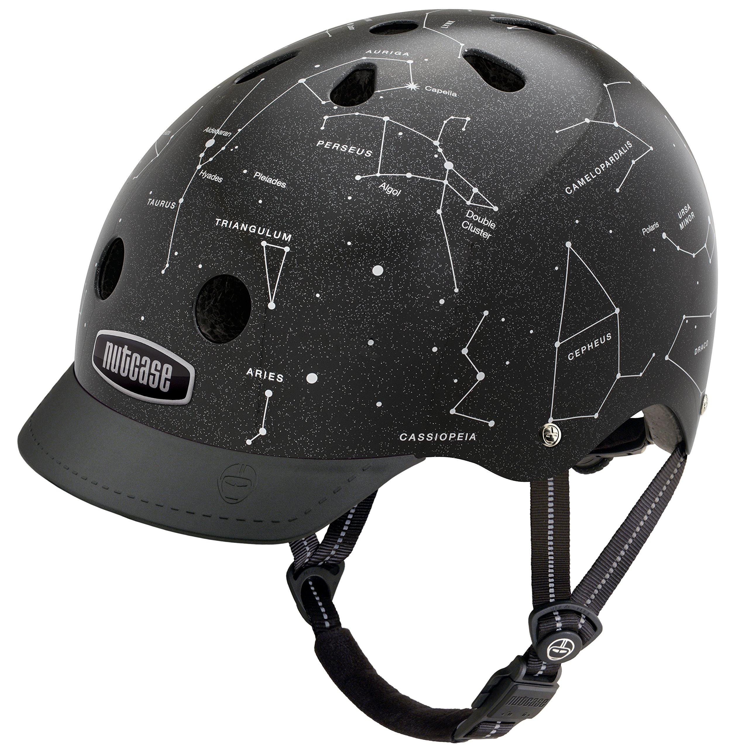 Nutcase - Patterned Street Bike Helmet for Adults, Constellations, Medium