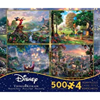 Ceaco Thomas Kinkade The Disney Dreams Collection 4 in 1 Multipack Fantasia, Winnie The Pooh, Tangled, & Lady and The…