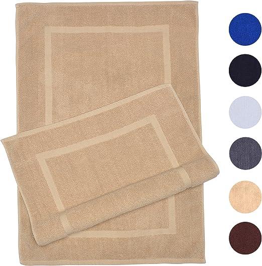 """2 Pack Cotton Bath Mat Towel Bath Rug 22/"""" X 34/"""" Super Soft Tub Mat"""