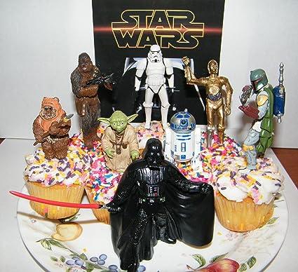 Amazon.com: Star Wars Deluxe Figura De Tartas/Cupcake ...