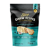 2Pk Stacys Cheese Petites Cheese Snack Romano & Black Pepper 7.5oz