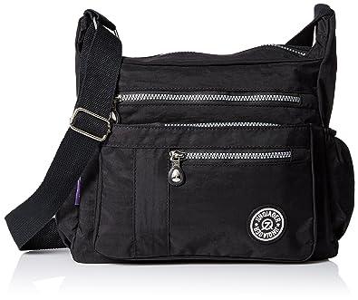 TianHengYi Women's Lightweight Nylon Cross-body Shoulder Bag ...