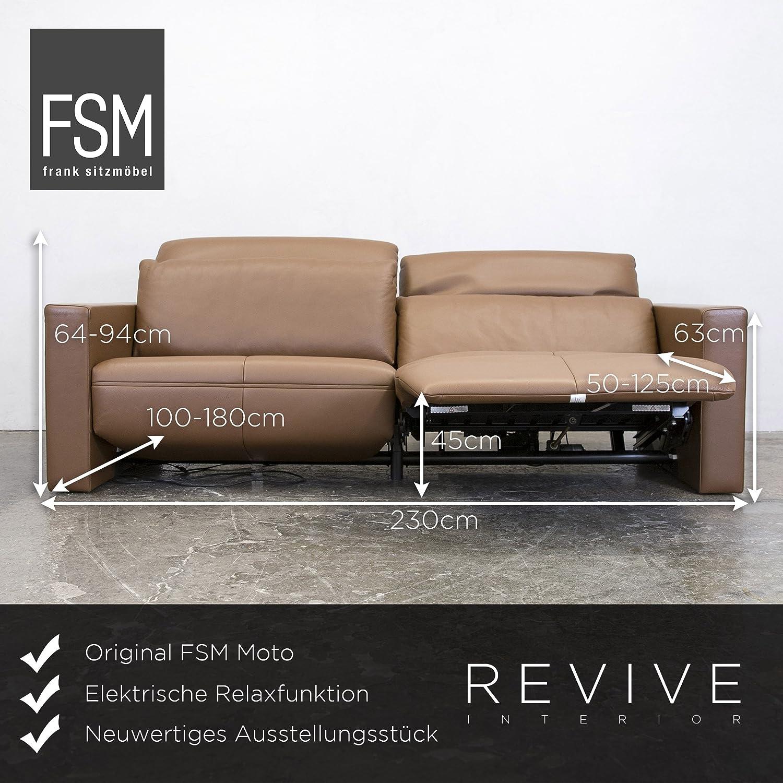 Künstlerisch Ledercouch Mit Relaxfunktion Dekoration Von Concept.de: Fsm Moto Leder Sofa S Braun