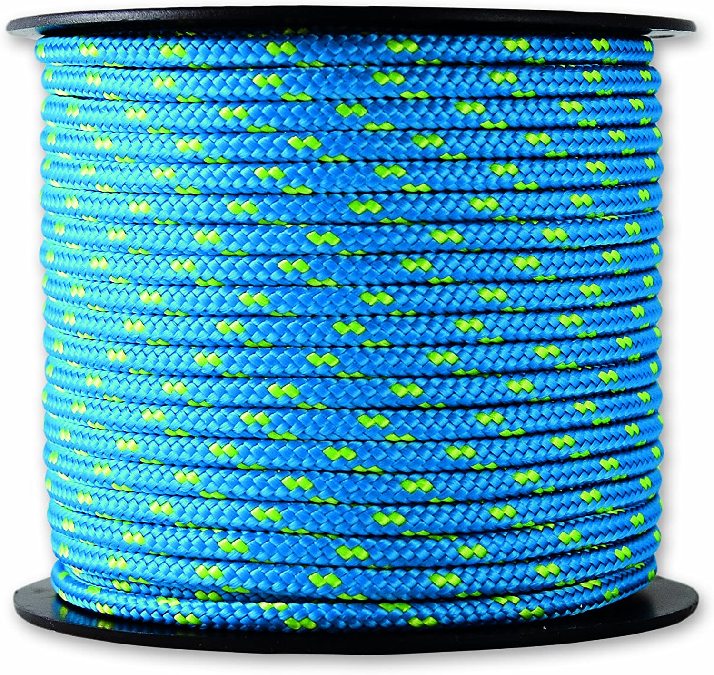 Chapuis MO325B Driza de poliéster - 200 kg - Diámetro 3 mm - Largo 25 m - Azul/amarillo