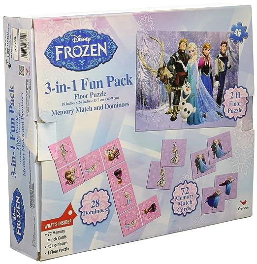 Amazon.com: Disney Frozen 3-in-1 Activity Game Box - Puzzle, Floor Dominoes, Memory Match: Toys & Games
