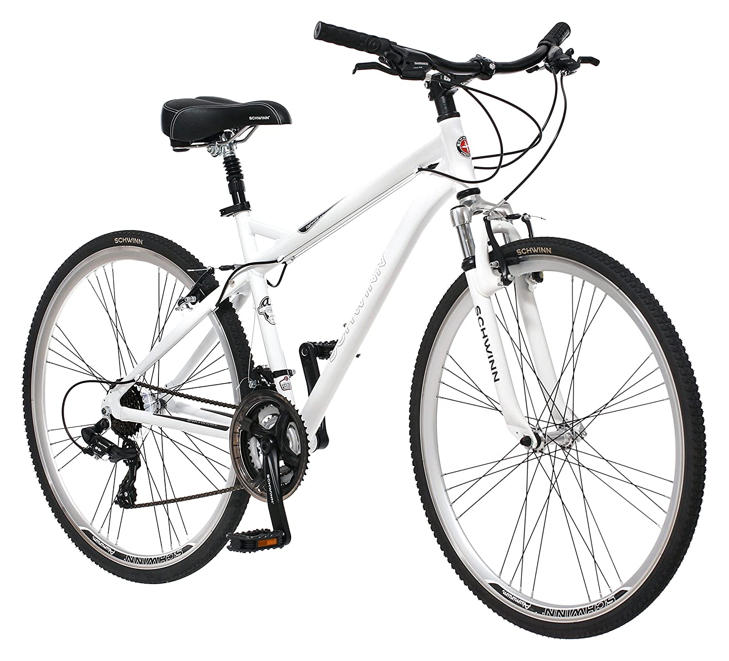 並行輸入 Schwinn Men's Network 3.0 700C Hybrid Bicycle, White, 18-Inch B00AWNHYWW