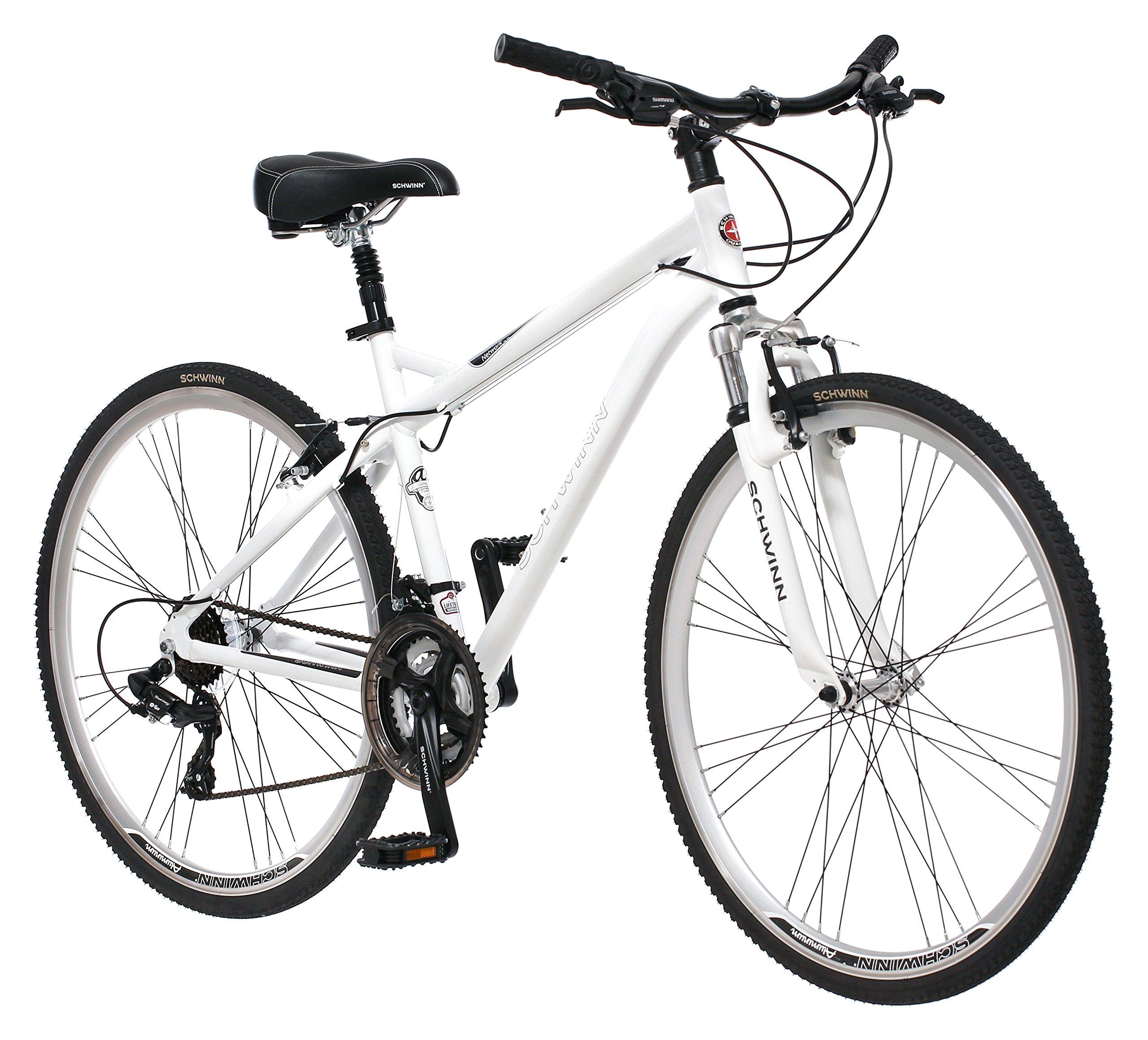 Schwinn Men's Network 3.0 700C Wheel Men's Hybrid Bicycle White, 18' Frame size by Schwinn (Image #1)