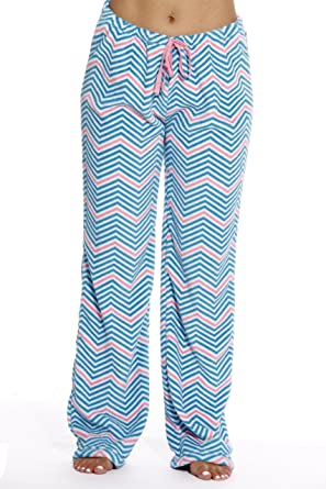 742b62b436a9 Just Love Women s Plush Pajama Pants - Chevron at Amazon Women s ...