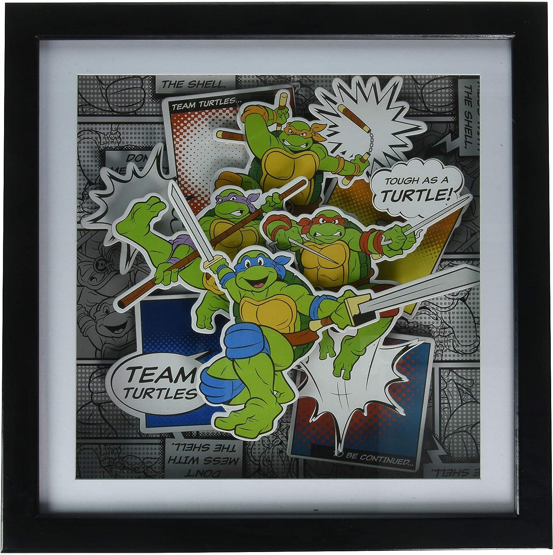 Silver Buffalo NT9206SB Teenage Mutant Ninja Turtles Team Turtles Shadow Box