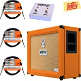 Orange CR120C Crush Pro 120 Guitar Combo Amplifier Bundle with Orange FS-2 Footswitch, Instrument Cables, and Austin Bazaar Polishing Cloth
