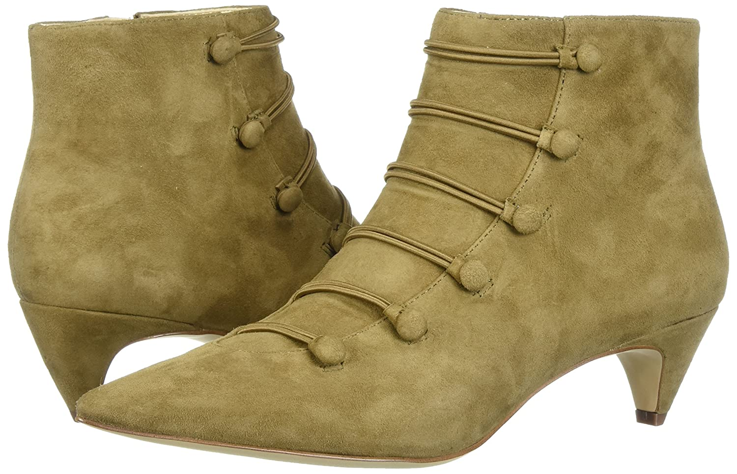 Nine West Women's Zadan Suede Ankle Boot B071484PQ7 9.5 B(M) US|Green
