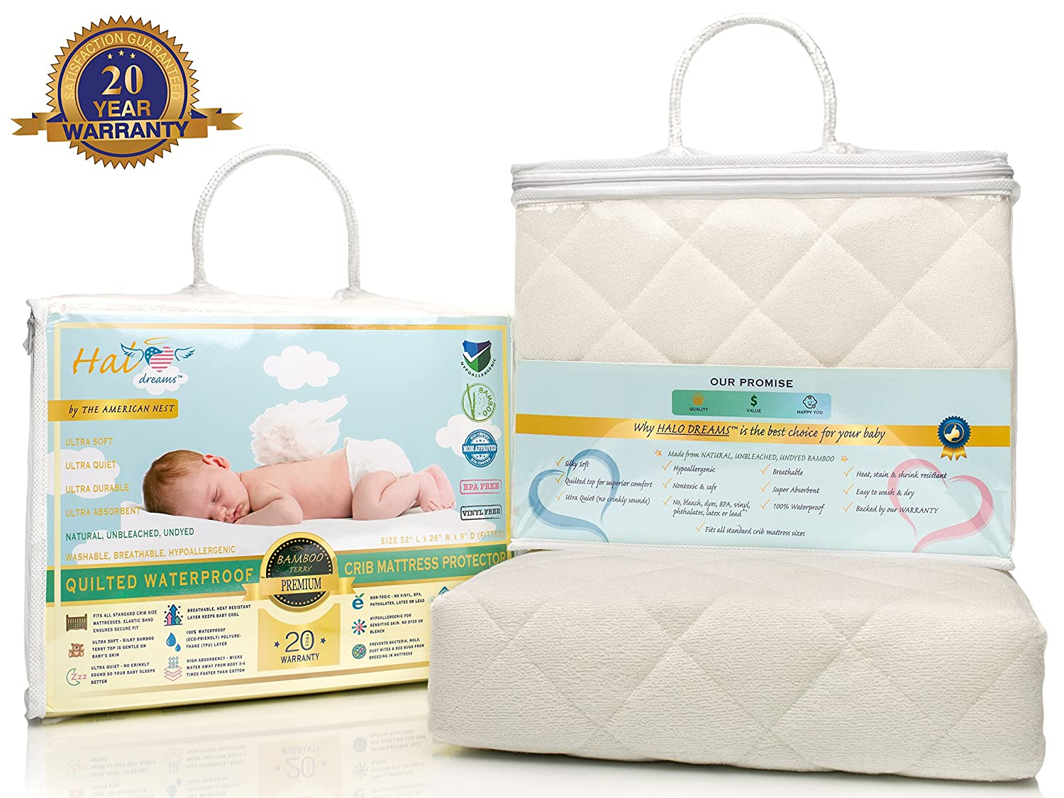 mattress en baby by cover bedding pad snow products crib protector boum bemini