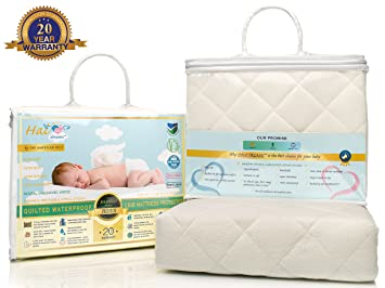 brand new dfb1d ca5b6 Bamboo Crib Mattress Pad Waterproof Cover & Toddler Bed Protector -  Breathable Hypoallergenic...