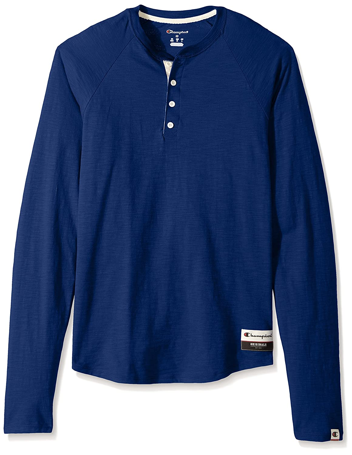 5952fe38 Machine Wash Soft slub cotton fabric upgrades your style 4-button placket  has a contrast-color inner placket. Tag-free ribbed collar; raglan sleeves