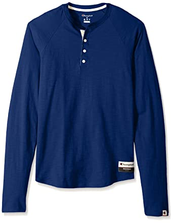 Champion Men s Authentic Originals Long Sleeve Henley at Amazon ... 688266522