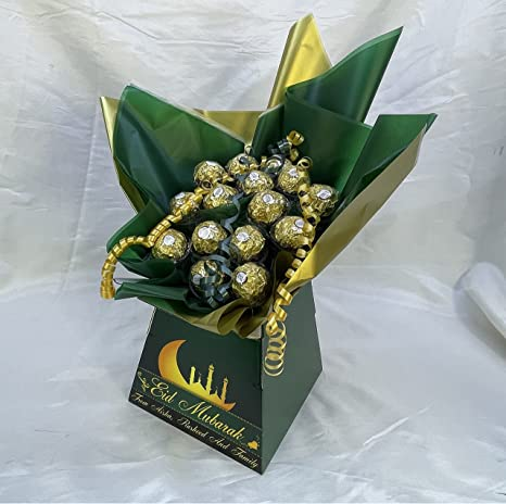 Chocolate Bouquet Eid Mubarak Ramadan Ferrero Amazon Co Uk Grocery