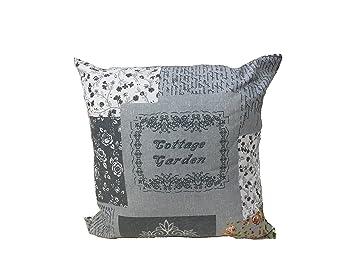 Kissen Wohnzimmer Shabby Grau Mit Schriftzug Braune Rose 60 X Mbel Haus Sofa Bett