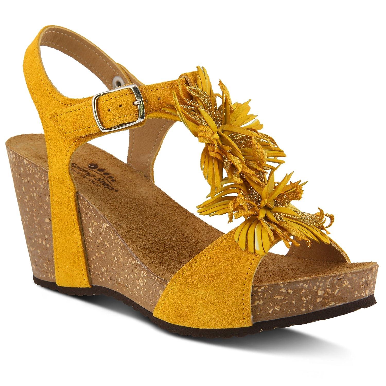 Spring Step Women's Izetta Wedge Sandal B079RZRJNF 41 M EU (US 9.5-10 US)|Yellow