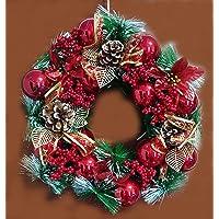 زينة شجرة عيد الميلاد زينة زينة حفل زفاف عيد الميلاد (التصميم 1، إكليل 40 سم)