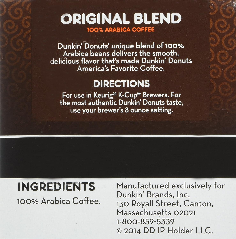 Dunkin Donuts KCups Original Flavor Medium Roast Box of 12 Kcups