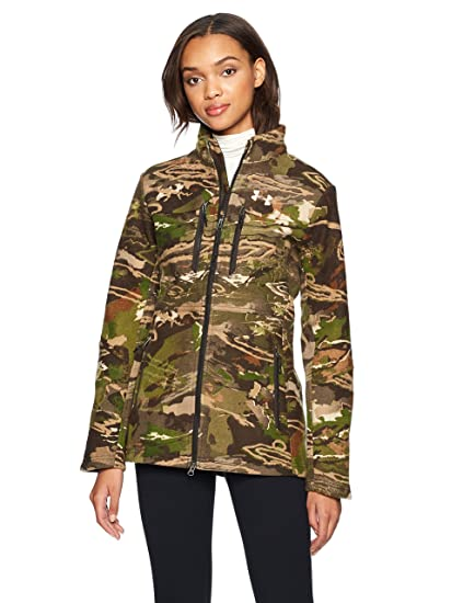 84c798d1f49ae Under Armour Women's Core Wool Jacket,Ridge Reaper Camo Fo (943)/Metallic