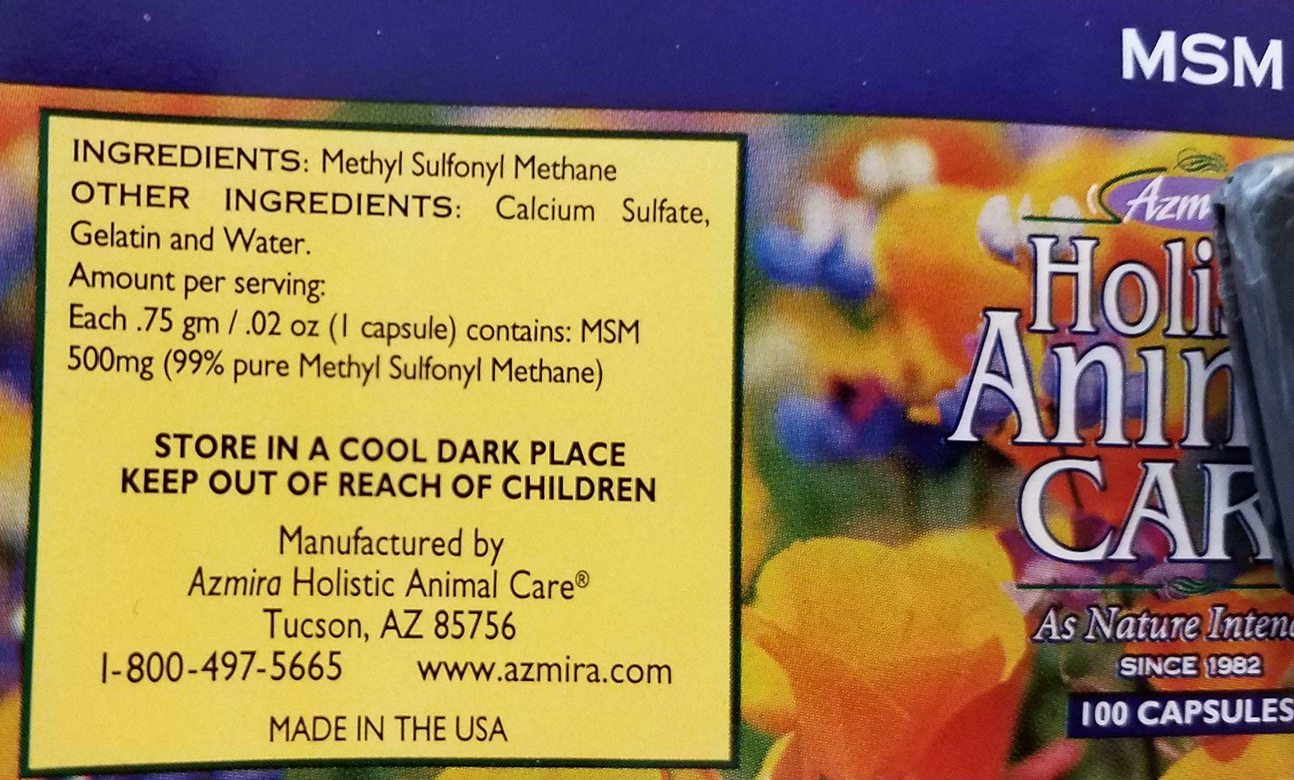 Azmira MSM holistic animal care 100 capsules by Azmira (Image #1)