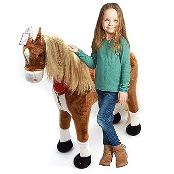 XXL Plüschpferd 105cm - Elsa, das riesige Reitpferd für Kinder, ein tolles Stehpferd Spiel-pferde XXL Pferd zum Draufsitzen i