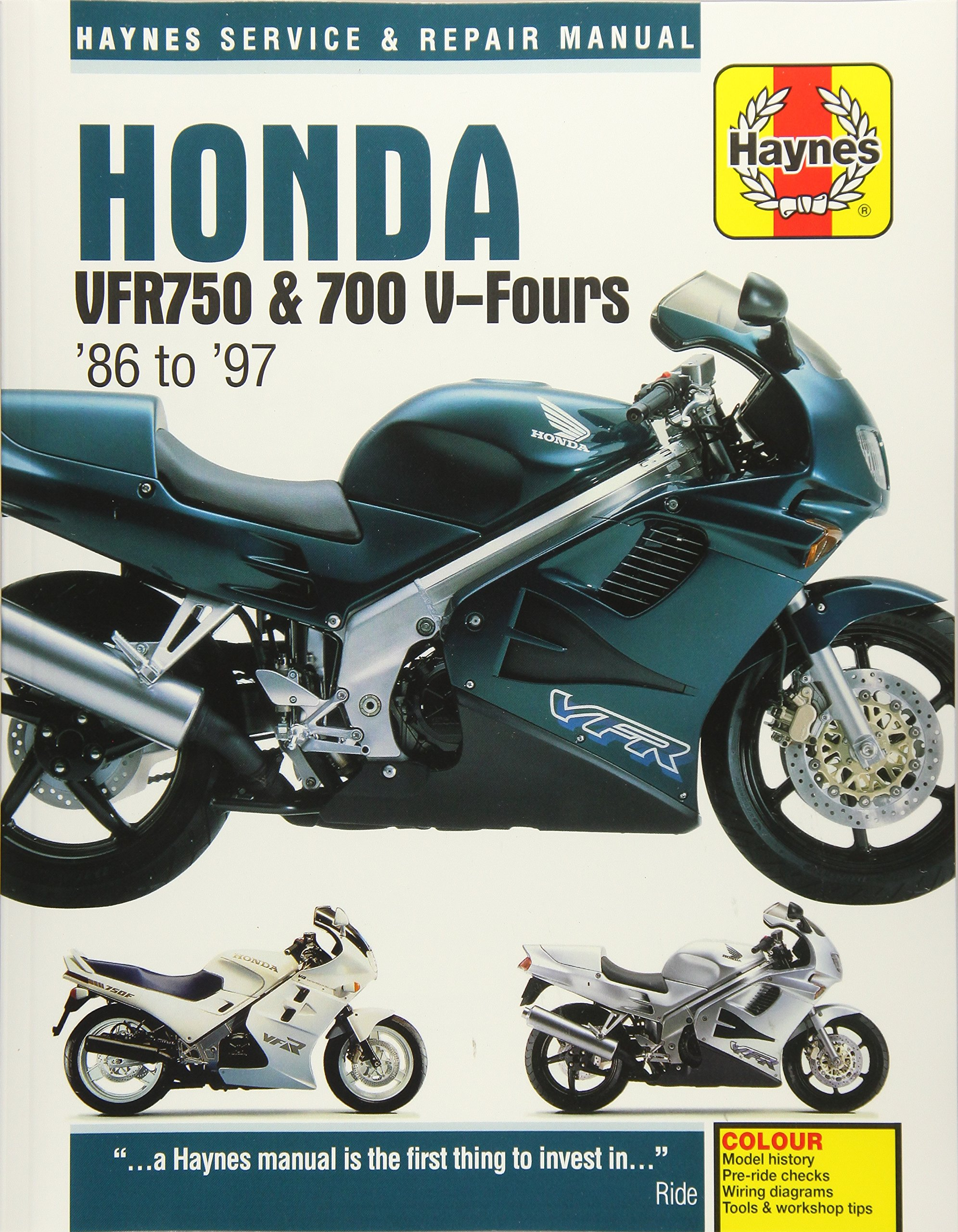 Honda VFR750 & 700 V-Fours 1986 Thru 1997 (Haynes Service & Repair Manual):  John Haynes: 9781785210396: Amazon.com: Books