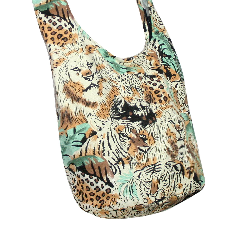 Tiger and Lion Crossbody Bag Hippie Bag Stlye Messenger Bags Purse small Pocket