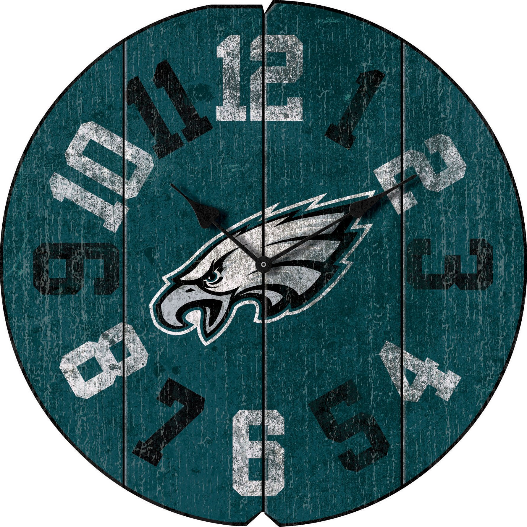Imperial Officially Licensed NFL Merchandise: Vintage Round Clock, Philadelphia Eagles by Imperial