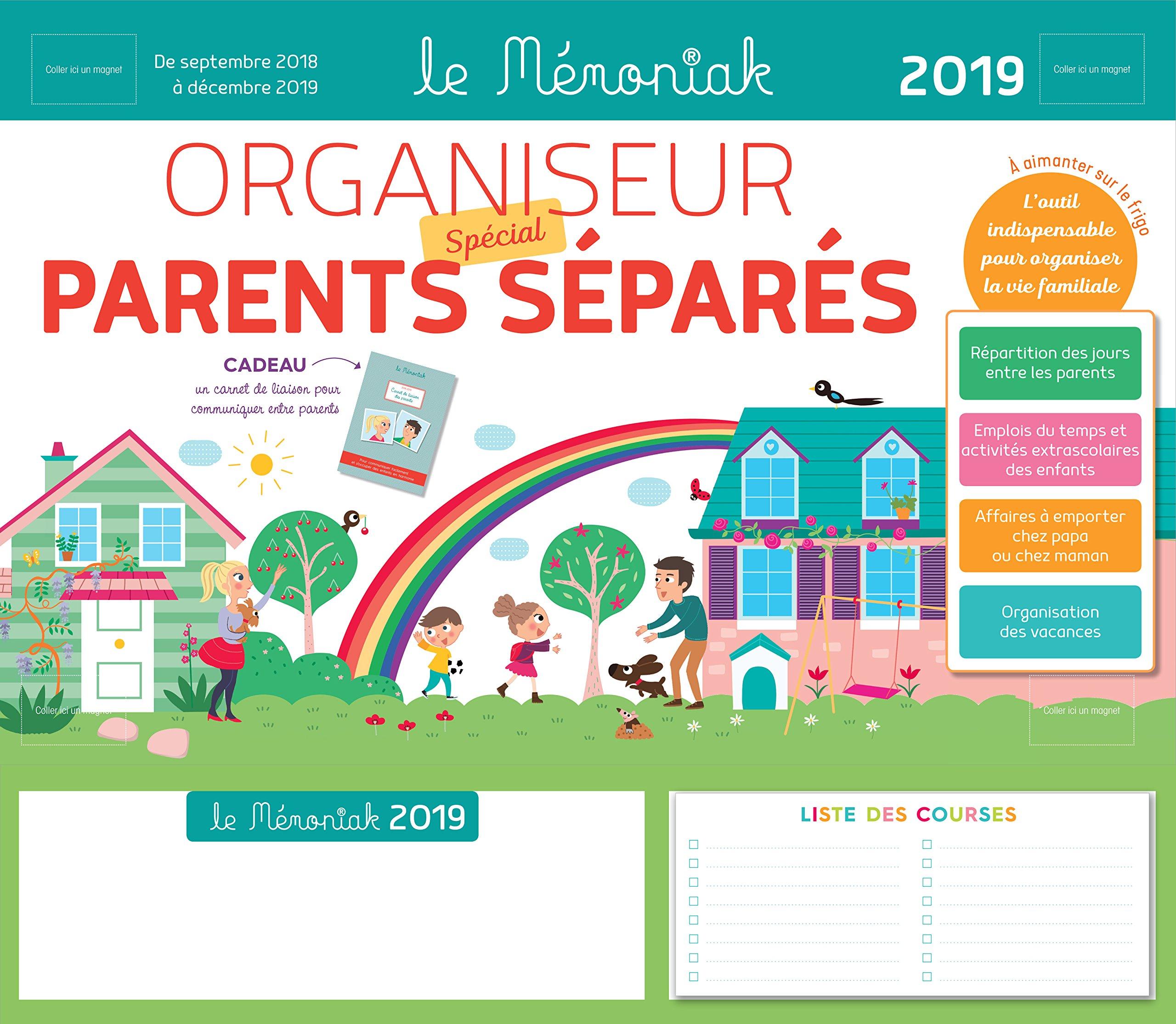 Bien Divorcer Calendrier 2019.Amazon Fr Organiseur Parents Separes Memoniak 2018 2019