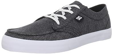 DC Shoes - Zapatillas de Skateboarding de Piel Hombre, (Black/White/White