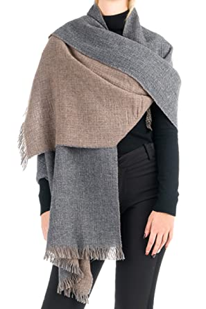 a4d255eed Angiola Made In Italy - Women's Double Faced 100% Virgin Wool Stole 100%  Made In Italy - Warm And Soft, Perfect In Winter (Medium Grey, Foal) at  Amazon ...