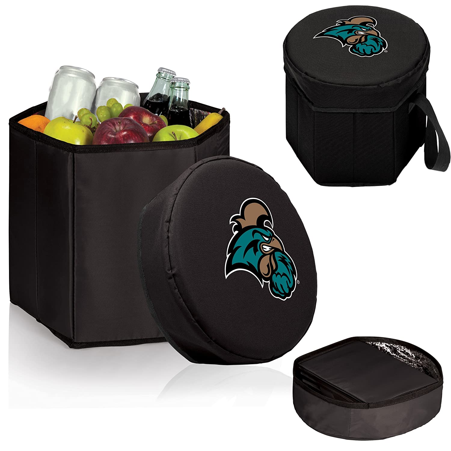 Black NCAA Coastal Carolina Chanticleers Bongo Insulated Collapsible Cooler