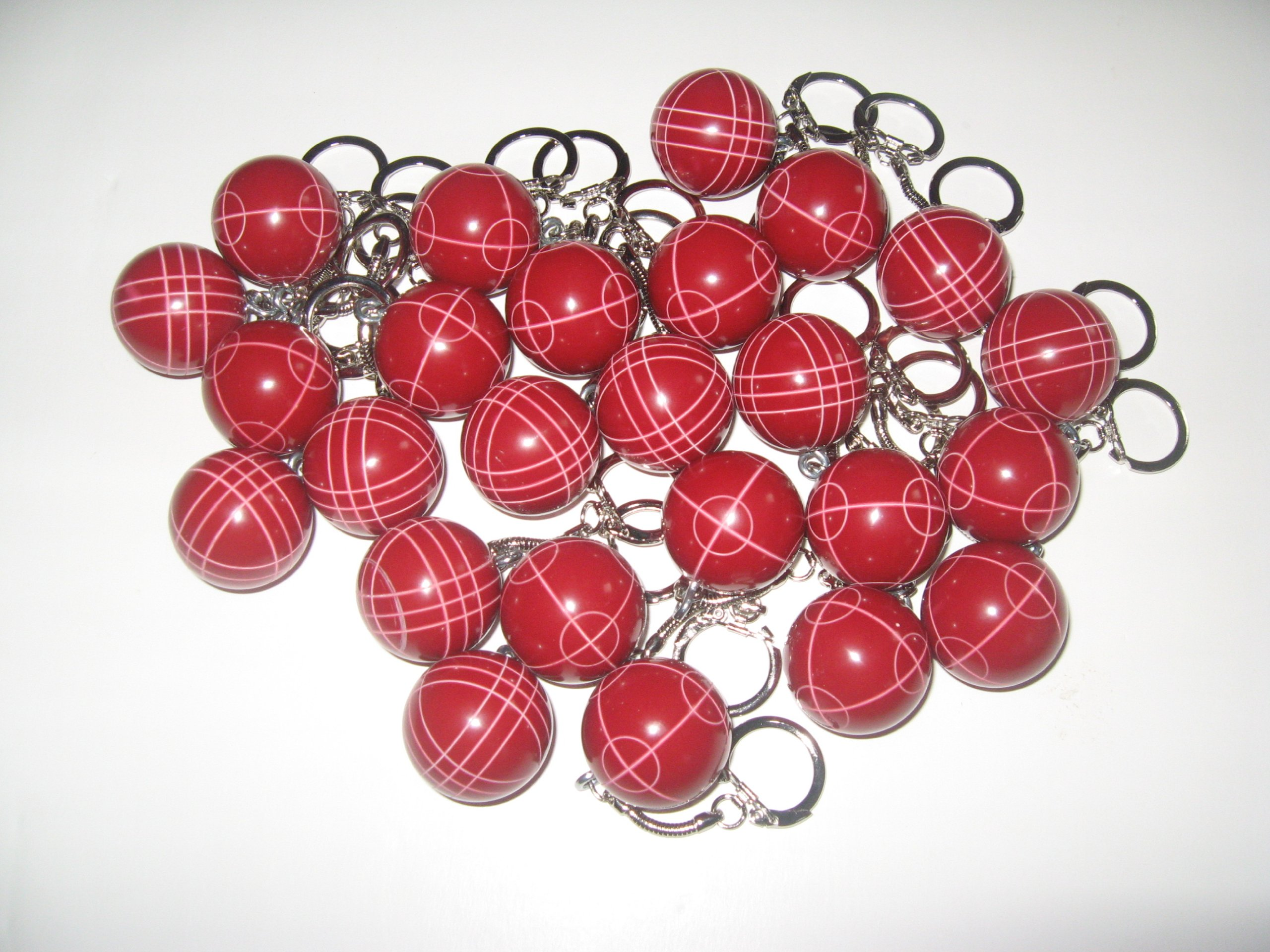 Bocce Ball Keychain - pack of 25 red by BuyBocceBalls