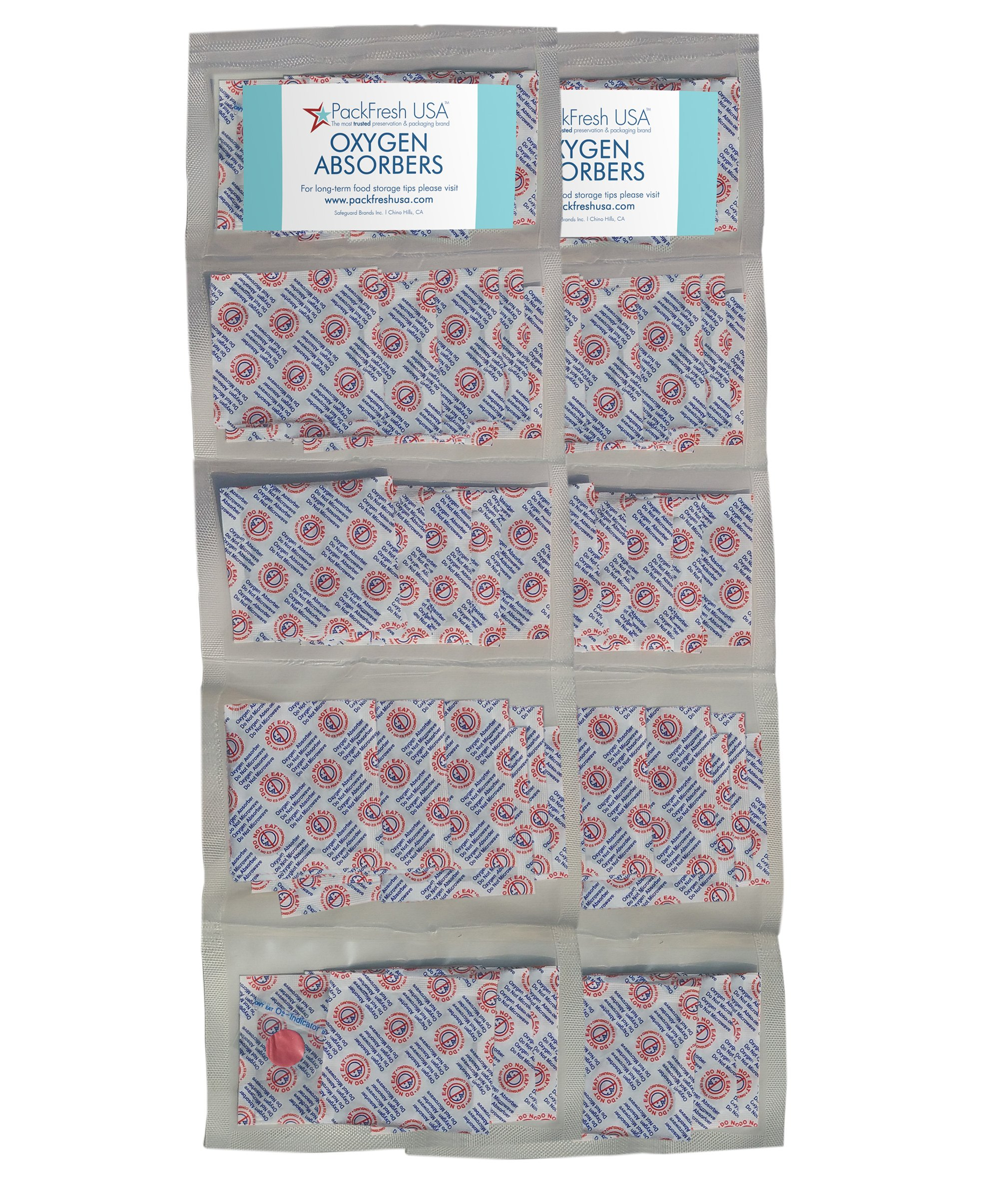 300cc Oxygen Absorber Compartment Packs (100, in 10 Compartments)