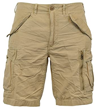 Polo Ralph Lauren Men\u0027s Classic-Fit Ripstop Cotton Cargo Shorts - 30 -  Boating Khaki