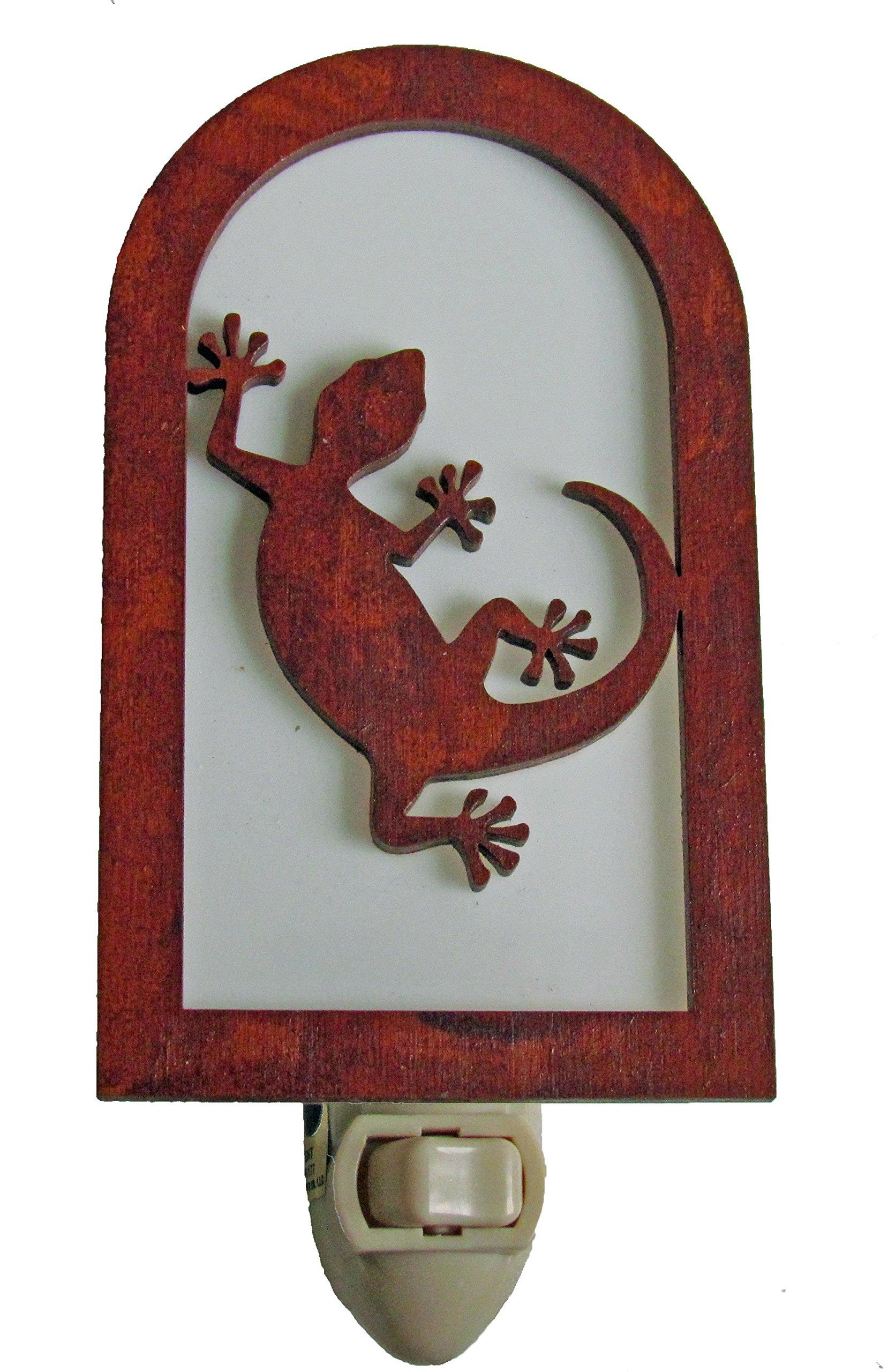 Rustic Gecko Nightlight Made in USA Southwestern Decor