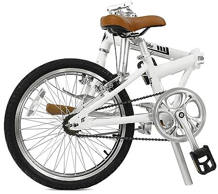 FabricBike Folding Bicicleta Plegable Cuadro Aluminio 3 Colores (Matte White): Amazon.es: Deportes y aire libre