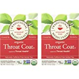 Traditional Medicinals Organic Throat Coat- Caffeine Free- 2 Pack (Total of 32 Tea Bags)