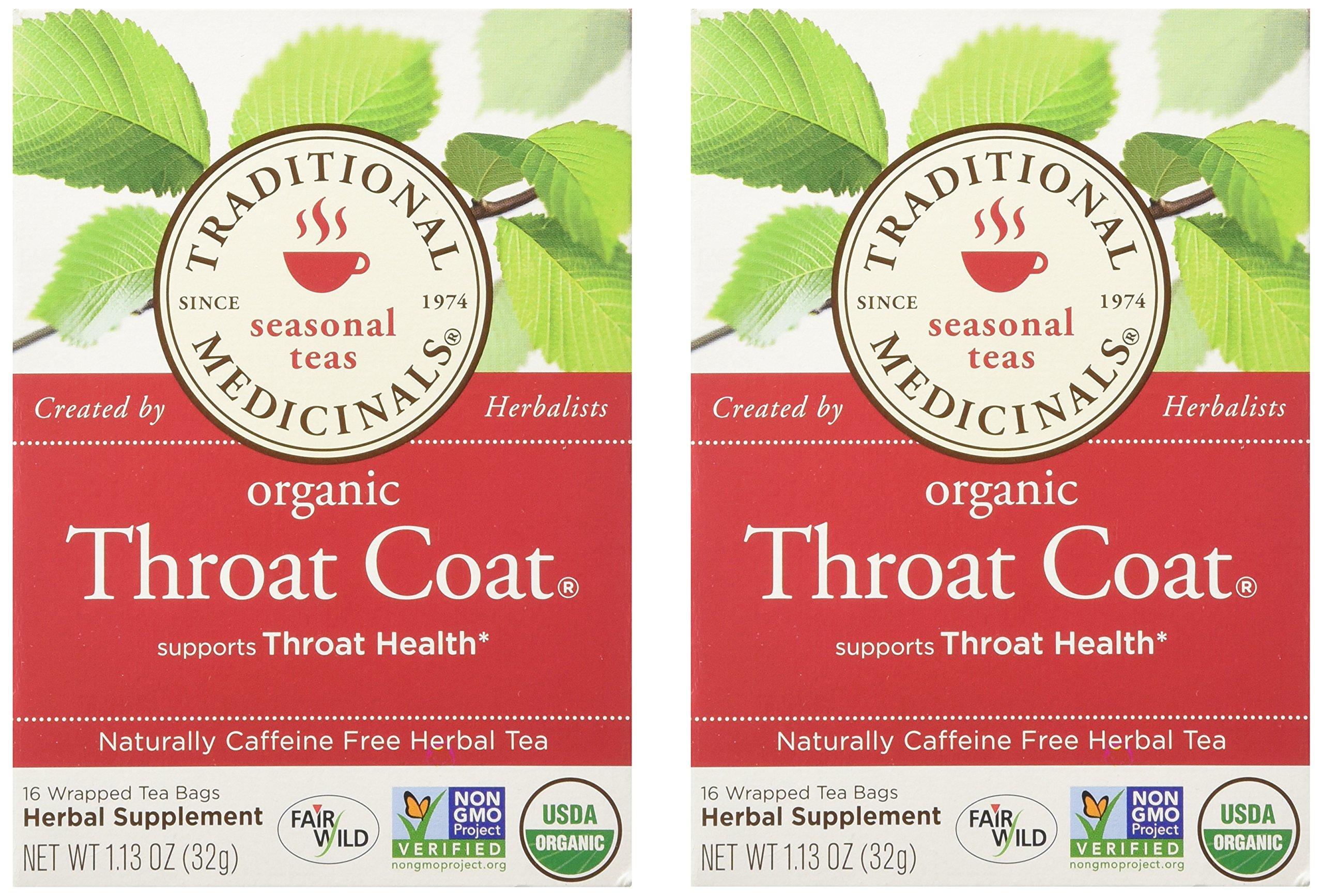 Traditional Medicinals Throat Coat 16 Ct (2 Pack)