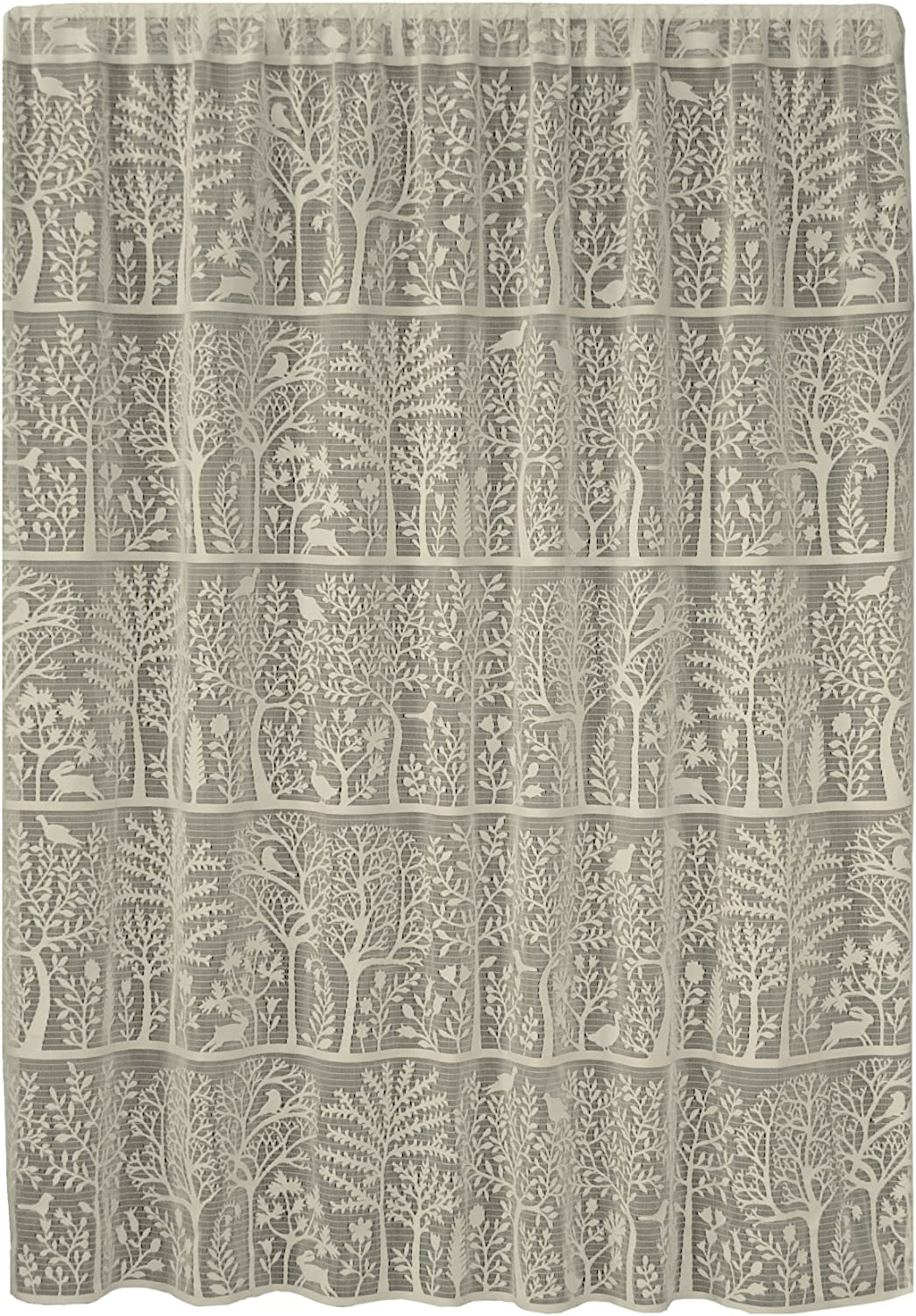 Heritage Lace Rabbit Hollow Panel, 60 by 63-Inch, Cafè